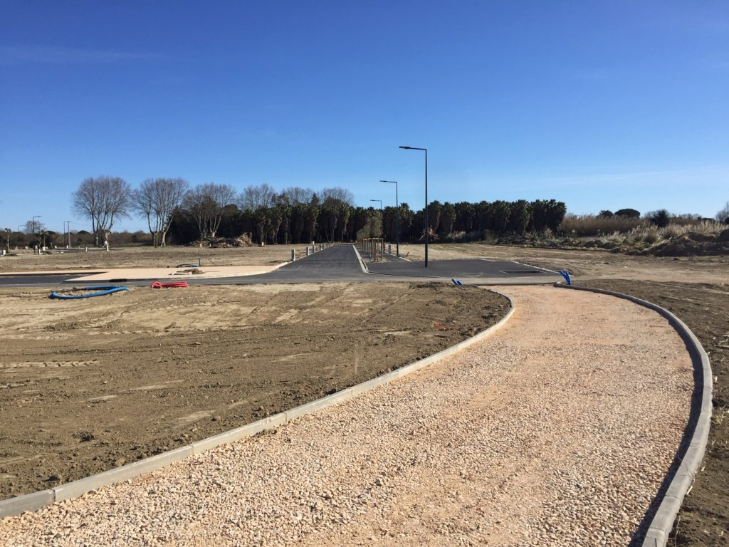 Les Jardins de la Palmeraie à Bompas (66) : travaux de finition en cours !